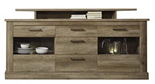 Furnline Montreal Canyon Monument Oak Living Room Cabinet Sideboard, Brown