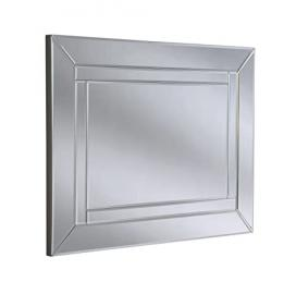 Yearn Modern Glass Bevelled Mirror, 76 x 102 cm, Silver