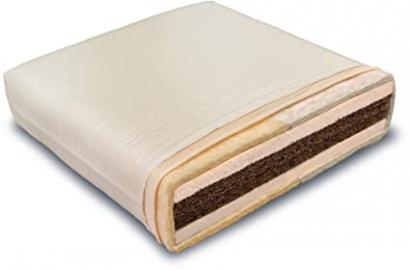 Organic children and teenager mattress Coconut Kid latex / natural rubber with pure sheep's wool, Maße:90 x 200 cm