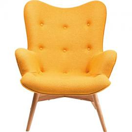 KARE Design New Desi Angels Wings Arm Chair, Fabric, Yellow