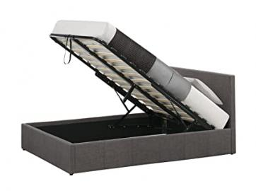 Birlea Berlin 5 ft Fabric Ottoman Bed - King Size, Grey