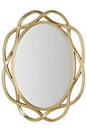 Premier Housewares Mirage Wall Mirror - 127 x 102 x 3 cm, Gold
