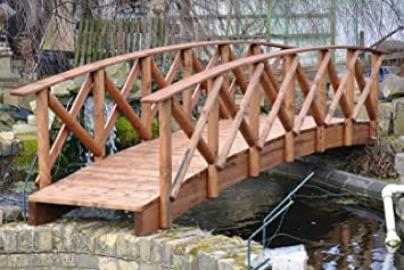 Rustic Low Rail Garden Bridge (6ft Rustic LR)