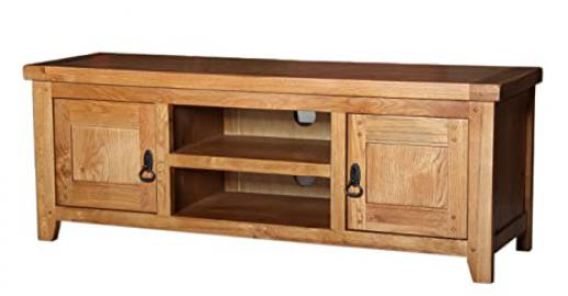 Vienna Rustic Oak Large TV Cabinet - NOTE: CUSTOMER ORDER ONLY - 6-8 WEEKS DELIVERY