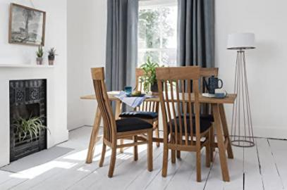 Oak Dining Table with 4 Chairs in choice of Seat Options Noa & Nani (Fabric seat)