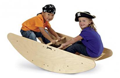 Jonti-Craft Kids Preschool Pretend Play Furniture Wooden Step Rocking Boat Stairs
