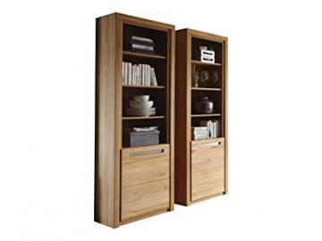 Furnline Zino Beech Fronts Solid Core Living Room Storage Cabinet, Brown