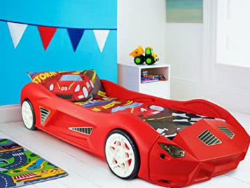 Storm Childrens Racing Car Bed With Mattress