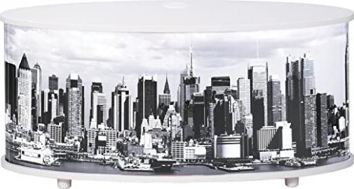 Simmob print110bl508New York TV Stand/Panel Wood 45.4x 50.8x 110,4cm Melamine White