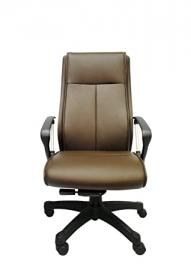 Lithos Basic Leather Office Chair Executive Swivel Height Adjustable Office Leather Chair, Brown