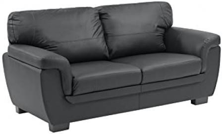 Ideal Furniture Katia Three Seater, Black