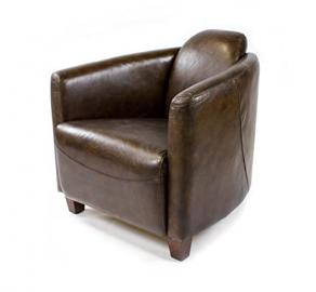 Real Leather Vintage Settle Armchair Design Lounge Clubchair Sofa Furniture 443