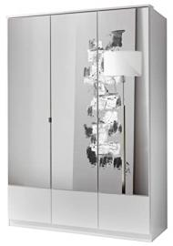 German Imago White 3 Door Mirror Mirrored Door Wardrobe