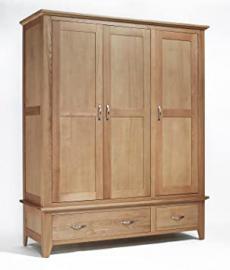 Sherwood Oak Triple Wardrobe 2 Drawer
