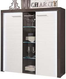 Furnline Flamingo Living Room Cabinet, Grey/White
