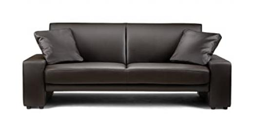 Julian Bowen Faux Leather Supra Sofa, Brown