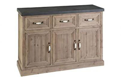 Premier Housewares Pompeii Wooden Sideboard, Wood, Natural