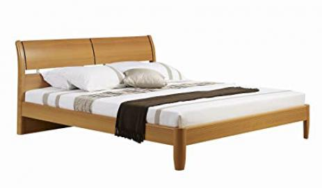 Birlea Aztec 5ft Kingsize High-Gloss Bed, Beech