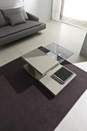 Zamagna Coffee Table Dove Grey BOAT design Lacquer and Swivel-deco Glass