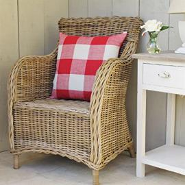 Wicker Rattan Armchair Conservatory Furniture Grey Wash