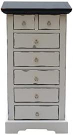 "Sit Furniture 9710-97 Dresser ""Spa"", Solid Acacia, Colour Taupe, 5 Large and 2 Small Drawers, 53 x 3"