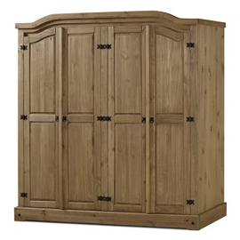 Birlea Corona 4-Door Wardrobe - Waxed Pine
