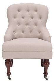 Safavieh Mason Arm Chair, Wood, Ecru
