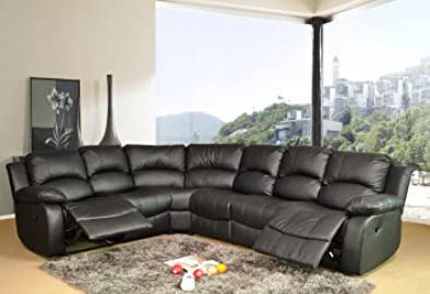 Lovesofas Valencia 2C3 or 3C2 Electric Recliner Corner Sofa Suite - Black