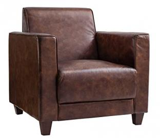 Gallery Direct Granada Club Chair Leather, 32 x 32 x 33.5-inch, Brown