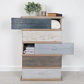 Maison Le Mer Tall Boy - Contemporary Set Of Drawers For the Home - H83.5cm x W55 x D38 Drawers: H14.5cm x W51cm