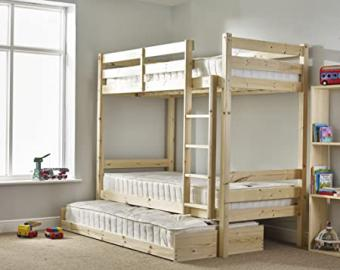 CHILDRENS BUNKBEDS 3FT TWIN BUNK BED WITH GUEST BED - BUNK BED - FAST DELIVERY