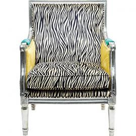 KARE Design Regency Zebra Arm Chair, Fabric, Multi-Colour