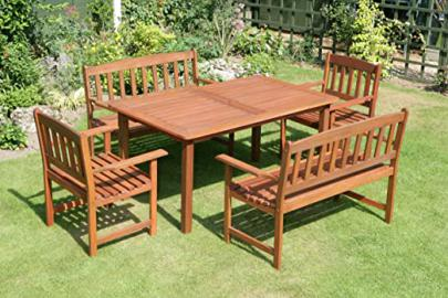 MALAY 5 PIECE GARDEN FURNITURE SET