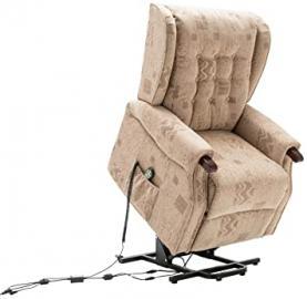 Birlea Keswick Motorised Rise and Recline Chair, Fabric, Wheat