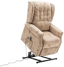 Birlea Ashworth Motorised Rise and Recline Chair, Fabric, Wheat