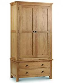 Julian Bowen Marlborough Combination Wardrobe, Waxed Oak
