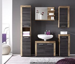 Furnline Cancun Walnut Satin Bathroom Furniture Set, Brown