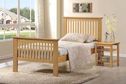 Ideal Furniture Howard Frame Bed, Wood, Oak, King
