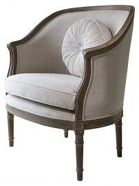 Gallery Direct Weathered Maison Armchair with Linen, Fabric, 84 x 75 x 92 cm