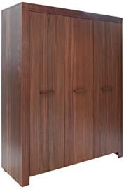 Jitona Jive Veneer 3-Door Wardrobe, Wood, Walnut