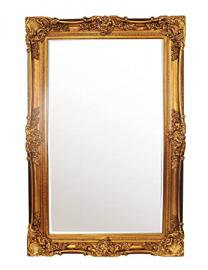 DERRYS Paige Antique Style Mirror, Glass, Gold, 6.3 x 4 ft