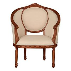 Premier Housewares Valentina Solid Wood Chair - 109 x 71 x 58 cm, Cream