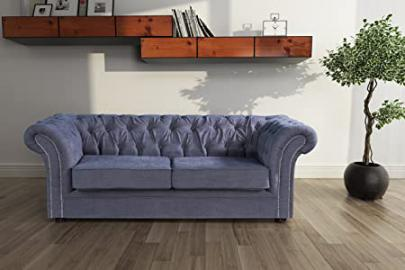 Lovesofas New Luxury Jackson Chesterfield 3 Seater Sofa - Roxy Grey