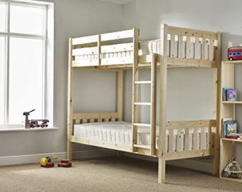 Adult Bunkbed - 3ft Single Bunk Bed - VERY STRONG BUNK! - Contract Use - has TWO centre rails for added support - INCLUDES two 20cm thick QUILTED sprung mattresses
