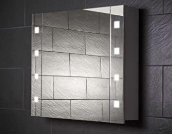 Galdem CUBE80 / Small Bathroom Cabinet 80 CM / 1 Door / Trendy Lighting T5 Fluorescent Lamp / Soft Close Function / Plug Socket / Badez