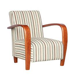 Shankar Enterprises Restmore Stripe Chair with Medium Lacquer, 80 x 71 x 69 cm, Duck Egg Blue