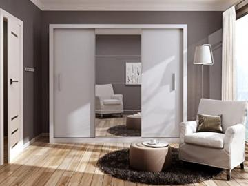 Modern Bedroom Wardrobe Sliding Door IDEA White Matt 250cm sold by Arthauss