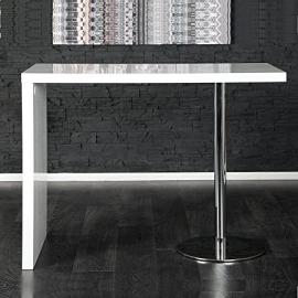 Xtradefactory Elegant Breakfast Table, Bar Table in White Chrome