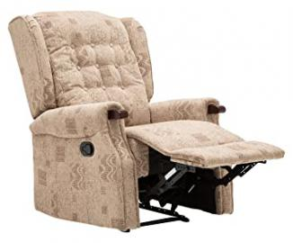 Birlea Keswick Recliner Chair, Fabric, Wheat