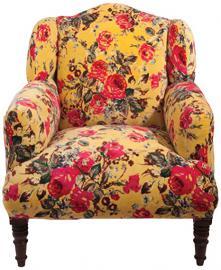 Ian Snow Armchair, Lime Roses